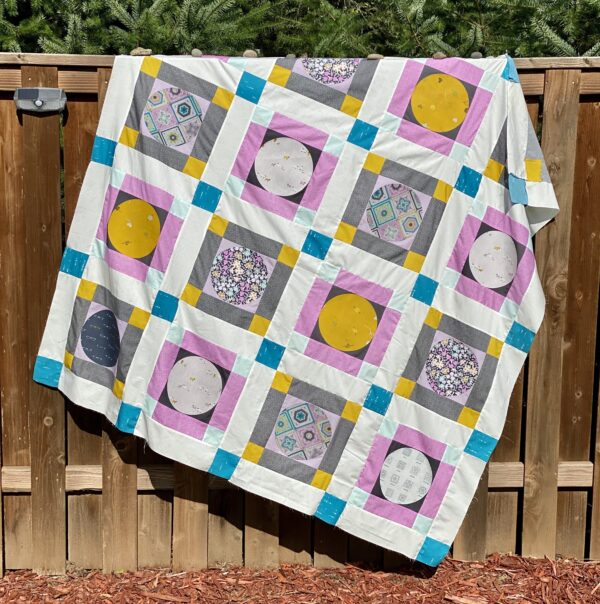 Hooked Moon River Quilt Top