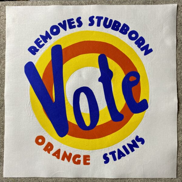 VOTE: Remove Stubborn Orange Stains Quilt Block